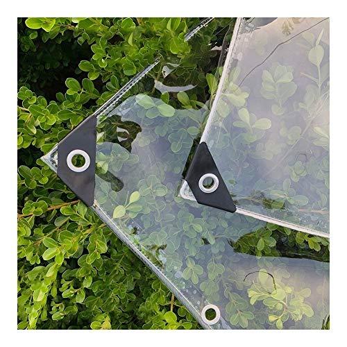 LSXIAO Tarea Pesada Lona Alquitranada, 100% PVC Transparente Completamente Impermeable Esquina Reforzada con Ojal Apto para Pabellones, Techo, Mueble De Jardín (Color : Claro, Size : 1.2x1.8m)
