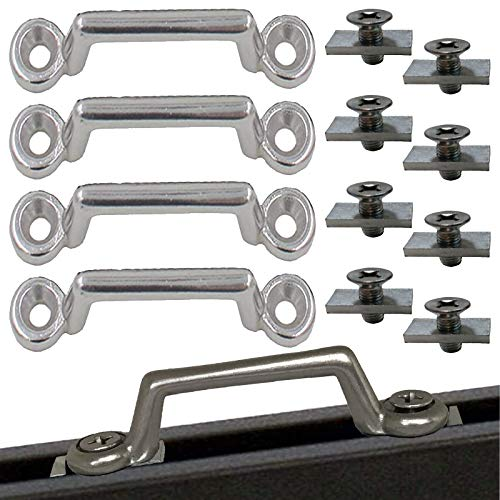 Pmsanzay 4Pack Stainless Steel Bimini Boat Top PAD Eye, Eye Straps, Kayak Deck Loops,Tie Down Anchor Point, footman's Loop for Kayak Canoe Rigging,Jeep Corvette,Buggy for Track Mount - No Drilling