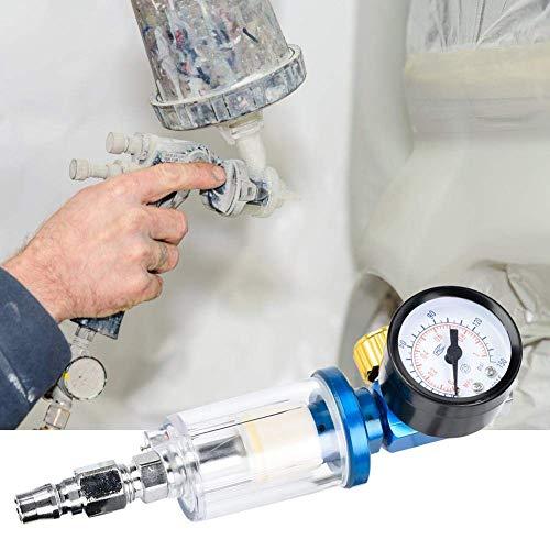 LHQ-HQ. Mini Luftdruckregler, 1/4 Zoll Lufteinlass-Druckregler Inline-Wasser-Öl-Trap-Filter Separator for Spritzpistole-Werkzeug