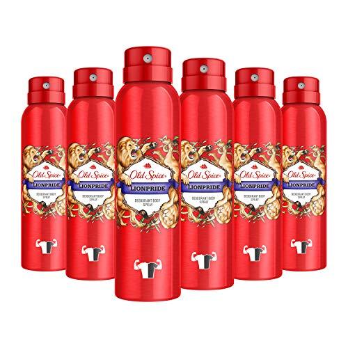Old Spice Lionpride Deodorant Bodyspray für Männer, 6er Pack (6 x 150 ml)