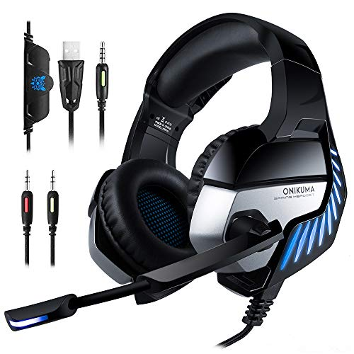 MOLINGXUAN Gaming Headsets, Gaming Headsets, PS4 Headsets, 7.1-Kanal-RGB Light-Emitting Headsets, LED-Rauschunterdrückung und Lautstärke-Controlling Headsets für PC Laptops,B