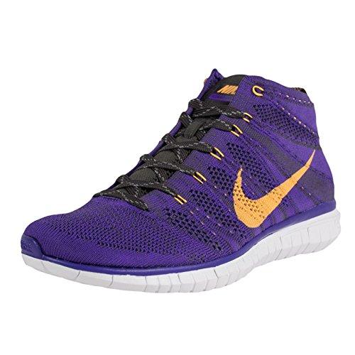 Nike Free Flyknit Chukka Mens Running Trainers 639700 Sneakers Shoes (UK 9.5 US 10.5 EU 44.5, Hyper Grape Atomic Mango mid Black 500)