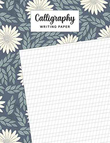 Calligraphy Writing Paper: A light gray slant grid on each page guides your practice