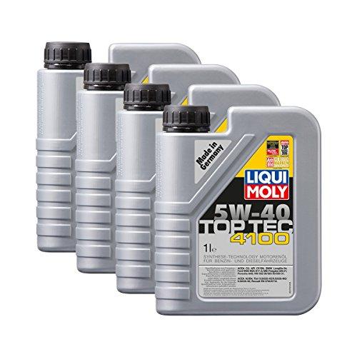 Liqui Moly 4X 3700 Top Tec 4100 5W-40 Motoröl