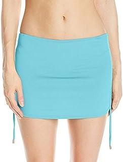 Calvin Klein Womens Side Shirred Skirted Bikini Bottom Swimsuit Bottoms