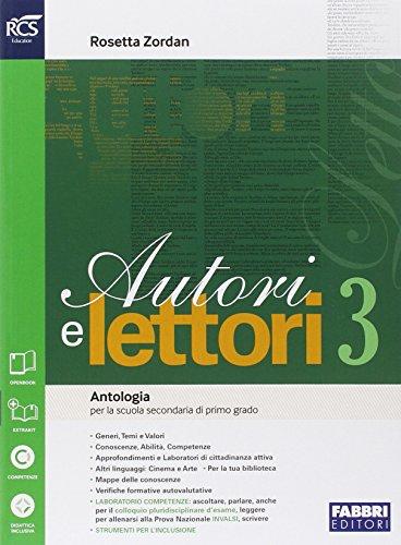 Autori e lettori. Quaderno. Per la Scuola media. Con espansione online (Vol. 3)