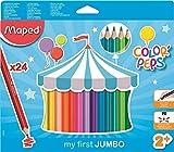 Maped Color' Peps Jumbo - Pack de 24 lápices de colores