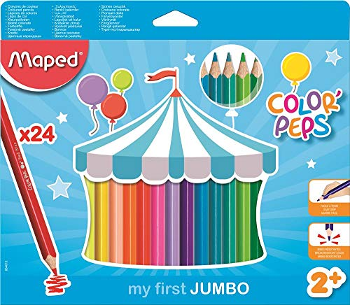 Maped 834013 my first Dreikant-Buntstift COLOR'PEPS JUMBO,24er Etui