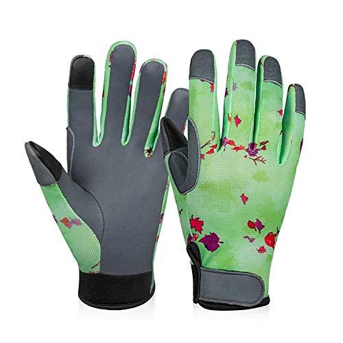ZMYY 1 par de guantes de trabajo de cuero de jardín ligeros y duraderos para mecánicos montaje embalaje almacén jardinería