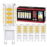 Onumii Bombilla LED G9 5W Equivalentes 40W Halógenas Bombillas G9, Blanco Cálido 3000K, AC220-240V, Pack De 6