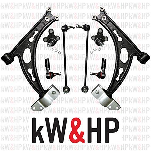 kW&HP COPPIA BRACCI BRACCETTI TRAPEZI OSCILLANTI + COPPIA BIELLETTE + TESTINE STERZO ANTERIORI DX/SX (BRA401CKW)