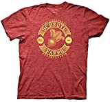 The Office Historic Shrute Farms WoodHeather Red Adult T-Shirt (Heather Red,Large)
