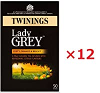 12箱まとめ買い トワイニング イギリスブレンド(英国国内専用品) レディーグレイ ティーバック 50p入り(茶葉125g相当) 黒紙箱入