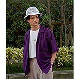 ジュンレッド(JUNRed) バンブーブレンドオープンカラーシャツ【パープル(50)/S】