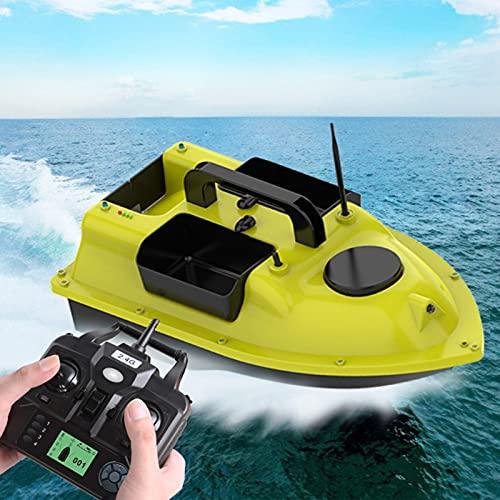 Barco de Cebo Inteligente, Barco de Pesca LED de Crucero de Velocidad Fijo de 500 m de Largo y de Larga Distancia con posicionamiento GPS, Barco de Control Remoto de Gran Capacidad de Doble Ca