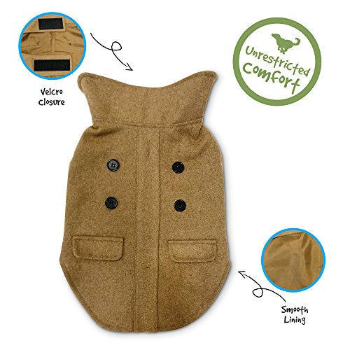Pet Craft Supply Comfortable Stylish Soft Pea Coat Outdoor Jacket Sweater Clothes Warm Pup Dog Doggie Cat Shirt Winter Puppy Pajamas for Dogs
