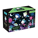 """Mudpuppy Fairies Glow in The Dark Puzzle, 100 Pieces – 18"""" x 12"""", for Ages 5+, Colorful Fairy Artwork, Made with Safe, Non-Toxic Materials"""