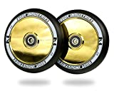 AIR Wheels 110mm - 120mm Pro Scooter Wheels Pair - Fits Most Setups - 24mm x 110mm - 120mm - Bearings Installed - 90 Day...
