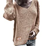Jersey con Cuello En V De Color Sólido De Prendas De Punto Europeas Y Americanas, Suéter Cálido De...