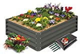 Mr. Stacky High-Grade Metal Raised Garden Bed Kit (3 ft. x 4 ft. x 1 ft.) - Elevated Plant...