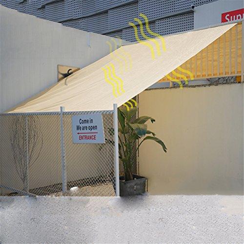 Dbtxwd Sand Color Sun Shade Sail Bloque UV para Patio Al Aire Libre Instalaciones De Jardín Y Diversas Medidas,1M*1M