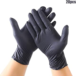 Sweetichic Disposable Gloves, Industrial Black Nitrile Gloves Powder Latex Free Mechanic Tattoo Supplies Non Sterile, Food Safe, Medical Grade, Convenient Dispenser Heavy Duty