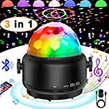 Disco Lights Bluetooth Speaker,USB Party Lights Sound Activated,3 in 1 Remote ControlHalloween Mini Disco Ball Light,LED Night Light for DJ,Xmas Parties,Pool,Club,Home,Church,Karaoke,Wedding