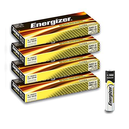 40er-Vorteilspack ENERGIZER Industrial Batterien AAA/LR03/EN92/Micro Batterien Alkaline