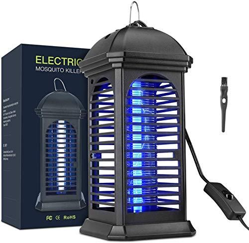Elektrischer Insektenvernichter Mückenlampe, 360° UV Mosquito Killer Lampe Chemiefrei Insektenfalle mit Schalter und Reinigungspinsel für Küche Wohnzimmer Schlafzimmer Büro Mückenvernichter 60㎡