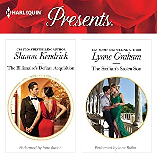The Billionaire's Defiant Acquisition & The Sicilian's Stolen Son                   By:                                                                                                                                 Sharon Kendrick,                                                                                        Lynne Graham                               Narrated by:                                                                                                                                 Ione Butler                      Length: 9 hrs and 2 mins     66 ratings     Overall 4.3