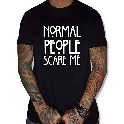 Uraeus T-Shirt Normal People Scare Me (L, Noir)