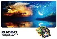 かっこいい ポケモンカード 専用 プレイマット とっても丈夫 高級感 厚手 ポケモンカード バトル シート デスクマット マウスパッド 3way Syaraku&GENESIS ppn52 (枠なし)