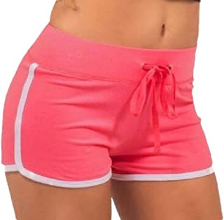Women Sexy Yoga Workout Gym Strappy Splicing Comfort Shorts