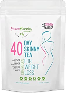Detox Tea Diet Tea for Body Cleanse - 28 Day Weight Loss Tea, Natural Ingredients, Green People Skinny Tea for Slim, Belly Fat (40days)