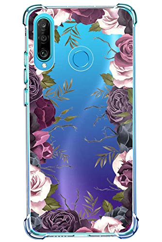 kompatibel mit Huawei P30 Lite Hülle Silikon Transparent Handyhülle 360 Grad Stoßfest Air TPU Bumper Schutzhülle Etui Tasche TPU für Huawei P30 Lite Smartphone Case Crystal Clear