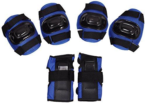 Schonerset Schutzausrüstung Set Protektoren Knieschoner Inline Skates Schoner XS-L H108 (Blau, M)