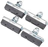 XLC Bremsschuhe 4er Set Freno Universal Scarpe BS-C04 Set di 4 40 mm, Nero Unisex Adulto, Standard