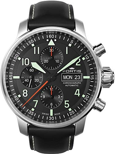 Fortis Aviatis Collection Flieger Pro Chronograph 705.21.11 L 01 Herren Automatikchronograph Massives Gehäuse