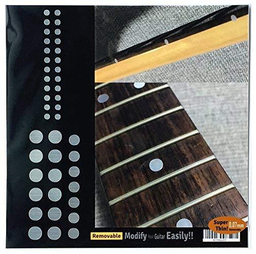 Griffbrett Marker Inlay Aufkleber Decals für Gitarre und Bass–Custom Dots set-mt