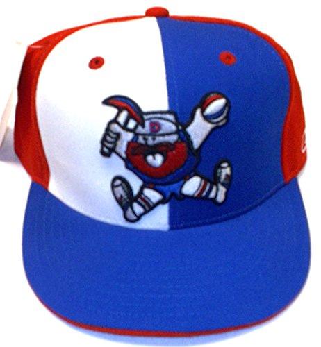 Reebok Denver Nuggets Alternate Pinwheel Flat Bill Fitted Hat - Size 7 1/4