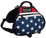 Activedogs American Service Dog Dual Pocket Harness Vest (Medium (Girth 27'-33'))