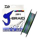 Daiwa J-trenza X4 Trenzado Sedal - Todas Las Tallas & Colores - Multicolor, 0.29mm 300m