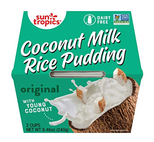Sun Tropics Coconut Milk Rice Pudding Snack, Original, 4.23 oz Cups (12 Pack), Gluten Free, Dairy Free, Vegan, Low Sugar, Non-GMO, Ready-to-Eat