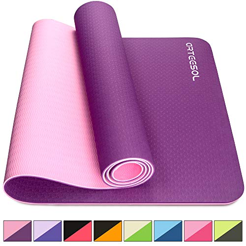arteesol Esterilla de Yoga, Colchoneta Gruesa Antideslizante de 6mm,...
