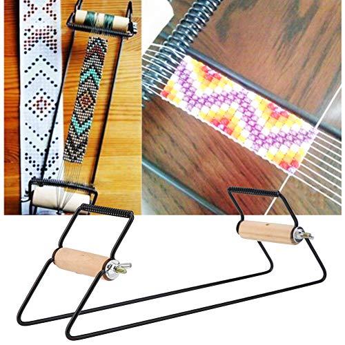 Telaio per Perline in Legno e Acciaio Inossidabile Telaio per Gioielli Robusto e Leggero per Tessitura di Braccialetti con Collana Fai-da-Te
