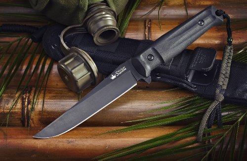 Kizlyar KK0011 Croc D2 Russian Made Titanium Tactical Knife, Black