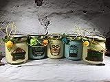Grazie Maestra 5 vasetti con candele di cera di soia e oli essenziali - Regalo per la Maestra Fine anno scolastico Ritorno a scuola Regalo di Natale