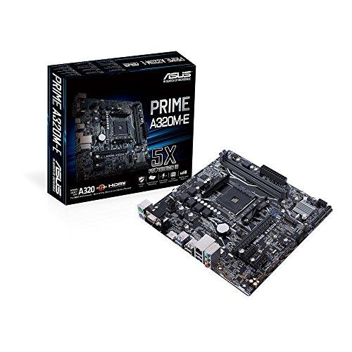 Asus Prime A320M-E moederbord socket AM4 (uATX, AMD, 4x DDR4-geheugen met 3200MHz, M.2, USB 3.1 Gen2)
