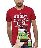 PIXEL EVOLUTION T-Shirt 3D Rugby Toulouse en Réalité Augmentée Homme - Taille XL - Rouge