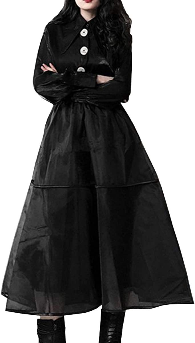 WDPL Women's High Waist Midi A-line Organza Layer Evening Night Out Party Skirt